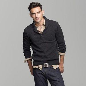 J crew shawl collar pullover sweater